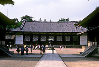 Nara: Horyuji--The Kodo, or lecture hall. Note: Nara is capital city of Nara Prefecture. Photo '82.