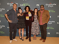 """BEVERLY HILLS, CA - AUGUST 4: (L-R) Co-Creator/Executive Producer/Writer Taika Waititi, cast members Devery Jacobs, D'Pharaoh Woon-A-Tai, and Paulina Alexis, and Co-Creator/Writer/Director Sterlin Harjo attend the FX Networks 2021 Summer Television Critics Association session for """"Reservation Dogs"""" at the Beverly Hilton on August 4, 2021 in Beverly Hills, California. (Photo by Frank Micelotta/FX/PictureGroup)"""