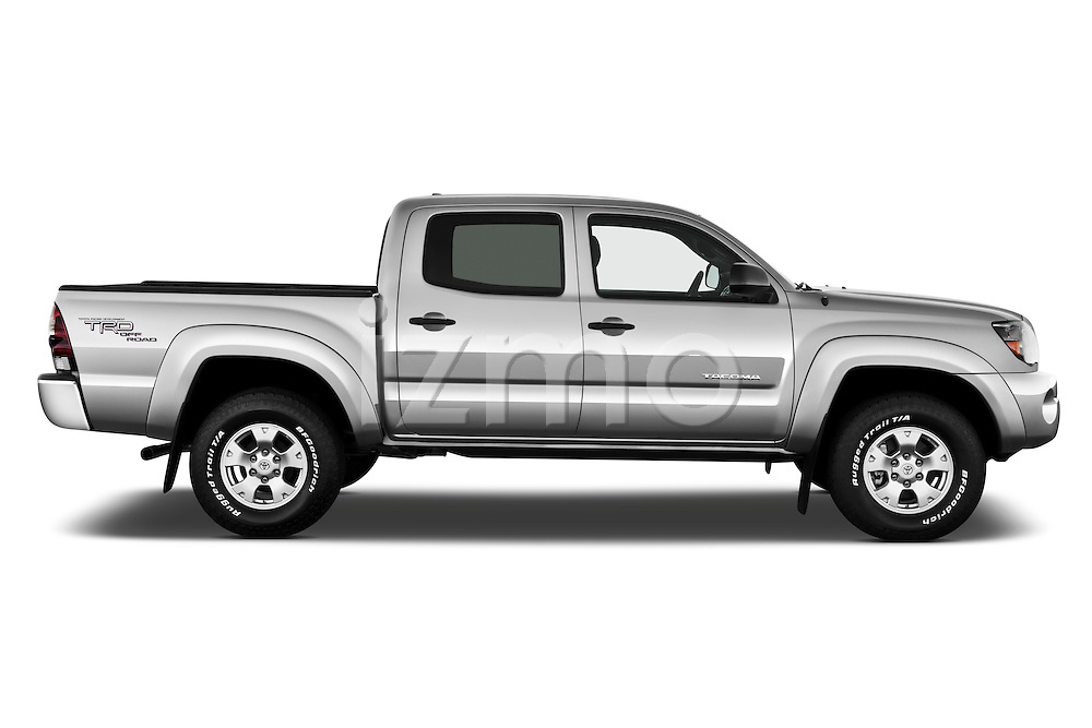 Passenger side profile view of a 2011 Toyota Tacoma PreRunner Off Road Double Cab .
