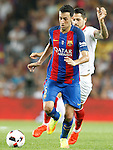 FC Barcelona's Sergio Busquets (l) and Sevilla FC's Vicente Iborra during Supercup of Spain 2nd match.August 17,2016. (ALTERPHOTOS/Acero)