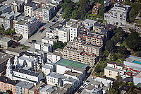 aerial photograph of the Russian Hill residential neighborhood, San Francisco, California