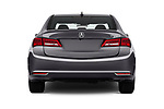 Straight rear view of a 2020 Acura TLX AUTO 4 Door Sedan stock images