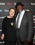 """Deborah Brevoort and Chuck Cooper attends the Broadway Opening Night of """"Tootsie"""" at The Marquis Theatre on April 22, 2019  in New York City."""