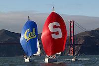 SAN FRANCISCO, CA - NOVEMBER 17:  Stanford sailing during the Big Sail on November 17, 2009 in San Francisco, California.