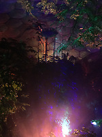 Eden project at night , the last evening opening 2018