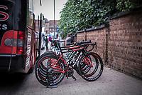 Team Cofidis bikes race ready. <br /> <br /> <br /> 71th Halle Ingooigem 2018 (1.1)<br /> 1 Day Race: Halle > Ingooigem (197.7km)
