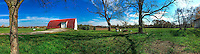 Barn at the Braun Farm in Westerville OH in this iPhone panorama photo