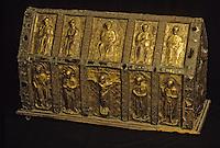 Europe/France/Auvergne/63/Puy-de-Dôme/Clermont-Ferrand: Cathédrale Notre-Dame-de-l'Assomption - Détail trésor de chasse Saint Lomer