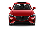 Car photography straight front view of a 2019 Mazda CX-3 Skycruise 5 Door SUV Front View