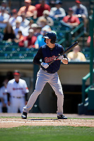 Scranton/Wilkes-Barre RailRiders second baseman Tyler Wade (23) bats during a game against the Rochester Red Wings on June 7, 2017 at Frontier Field in Rochester, New York.  Scranton defeated Rochester 5-1.  (Mike Janes/Four Seam Images)