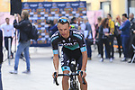 Rafal Majka (POL) Bora-Hansgrohe at sign on before the start of the 99th edition of Milan-Turin 2018, running 200km from Magenta Milan to Superga Basilica Turin, Italy. 10th October 2018.<br /> Picture: Eoin Clarke | Cyclefile<br /> <br /> <br /> All photos usage must carry mandatory copyright credit (© Cyclefile | Eoin Clarke)