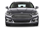 Car photography straight front view of a 2015 Ford Mondeo Titanium 5 Door Wagon 2WD Front View