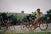 yellow jersey / GC leader Stefan Küng (SUI/BMC)<br /> <br /> Stage 4: Gansingen > Gstaad (189km)<br /> 82nd Tour de Suisse 2018 (2.UWT)