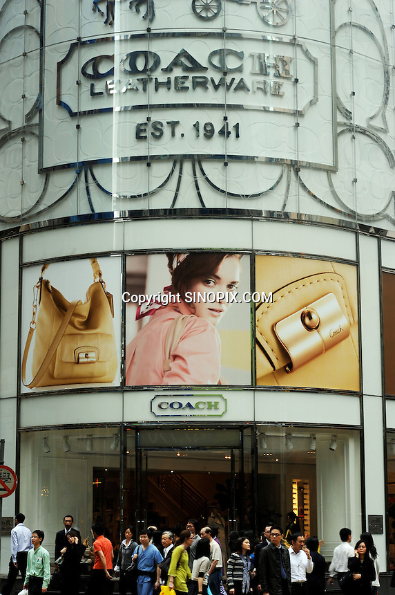 Coach in Central District of Hong Kong. Hong Kong, with its leading position as an international centre for luxury fashion brands carry the complete range of one of the world's top fashion brands products. .