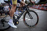 Kenneth Van Rooy (BEL/Sport Vlaanderen Baloise) up the infamous 'Mur de Huy'<br /> <br /> <br /> 83th Flèche Wallonne 2019 (1.UWT)<br /> 1 Day Race: Ans – Huy 195km<br /> <br /> ©kramon