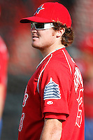 August 1, 2009:  Pitcher Tyson Brummett of the Reading Phillies during a game at Jerry Uht Park in Erie, PA.  Reading is the Eastern League Double-A affiliate of the Philadelphia Phillies.  Photo By Mike Janes/Four Seam Images