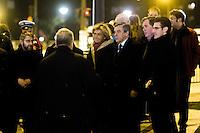 Hommage rendu aux victimes de l'Hypercacher, arrivÈe de FranÁois Fillon, le 9 janvier 2017 ‡ Paris.