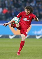Caglar Soeyuencue   <br /> / Sport / Football / DFL 1. Bundesliga Bundesliga  /  2017/2018 / 10.03.2018 / Hertha BSC Berlin vs. SC Freiburg SCF 18031063 /  *** Local Caption *** © pixathlon<br /> Contact: +49-40-22 63 02 60 , info@pixathlon.de