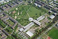 Gymnasium Allermöhe mit Park: EUROPA, DEUTSCHLAND, HAMBURG 30.04.2019: NeGymnasium Allermöhe mit Park