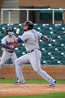 Salt River Rafters first baseman Rowdy Tellez (44) at bat during an Arizona Fall League game against the Surprise Saguaros on October 20, 2015 at Salt River Fields at Talking Stick in Scottsdale, Arizona.  Surprise defeated Salt River 3-1.  (Mike Janes/Four Seam Images)
