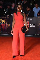"""LONDON, UK. October 08, 2019: Kerry Boyne arriving for the """"Knives Out"""" screening as part of the London Film Festival 2019 at the Odeon Leicester Square, London.<br /> Picture: Steve Vas/Featureflash"""