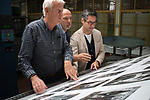 Dewi Lewis Publishing printing My British Archive, The Way We Were  1968-1983, at EBS Verona. Daniele printer, ( centre) Jonathan Bortolazzi wearing glasses. 2016 2010s