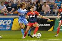 Chicago, IL - Saturday Sept. 24, 2016: Casey Short, Katie Stengel during a regular season National Women's Soccer League (NWSL) match between the Chicago Red Stars and the Washington Spirit at Toyota Park.