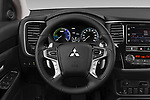 Car pictures of steering wheel view of a 2019 Mitsubishi Outlander-PHEV Intense-4wd 5 Door SUV Steering Wheel