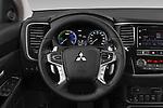 Car pictures of steering wheel view of a 2019 Mitsubishi Outlander-PHEV Intense-4wd 5 Door SUV Steering Wheel