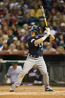 Chad Mozingo #4 of the Rice Owls at bat versus the Texas A&M Aggies in the 2009 Houston College Classic at Minute Maid Park February 28, 2009 in Houston, TX.  The Owls defeated the Aggies 2-0. (Photo by Brian Westerholt / Four Seam Images)