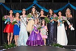 March 25, 2017- Tuscola, IL- Placers of the Miss Tuscola pageant. From left are Jr. Miss 2nd runner-up and Miss Congeniality Carlie Seip Jr. Miss 1st runner-up Emma Zimmer, 2016 Jr. Miss Julia Kerkhoff, 2017 Jr. Miss Maicyn Woodard, 2016 Little Miss Ava Brown, 2017 Little Miss Julianne Steffens, 2017 Miss Tuscola Ashley Mattingly, Miss 1st runner-up and Miss Congeniality Hannah Summers, Miss 2nd runner-up Myli Samples, and 2016 Miss Tuscola Madeline Clabaugh.  [Photo: Douglas Cottle]
