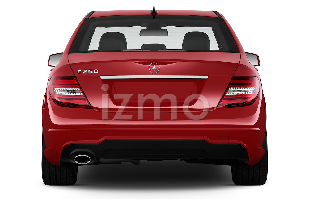 Straight rear view of a 2013 Mercedes-Benz C250 Sport Sedan