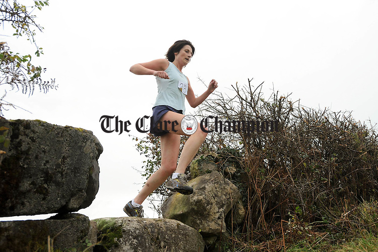 Loretta Duggan in action at the Clare Cross Country Championships at Kilnaboy. Photograph by John Kelly...
