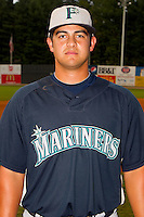 Matt Browning #4 of the Pulaski Mariners at Boyce Cox Field August 28, 2010, in Bristol, Tennessee.  Photo by Brian Westerholt / Four Seam Images