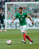 Mexico City, Mexico - Sunday June 11, 2017: Héctor Moreno during a 2018 FIFA World Cup Qualifying Final Round match with both men's national teams of the United States (USA) and Mexico (MEX) playing to a 1-1 draw at Azteca Stadium.