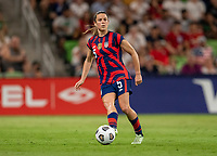 AUSTIN, TX - JUNE 16: Kelley O'Hara #5 of the USWNT dribbles during a game between Nigeria and USWNT at Q2 Stadium on June 16, 2021 in Austin, Texas.