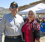 Edward and Reina during the Numaga Indian Days Pow Wow in Hungry Valley on Saturday, Sept. 1, 2018.