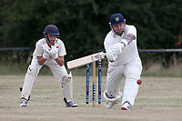 Alan Ison in batting action for Upminster during Goresbrook CC vs Upminster CC (batting), Essex Cricket League at May & Baker Sports Club on 1st August 2020