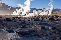 El Tatio Geyser Field (locally known as Los Géiseres del Tatio) is located within the Andes Mountains of northern Chile at 4,200 meters above mean sea level