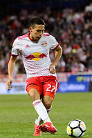 Harrison, NJ - Tuesday April 10, 2018: Sean Davis during leg two of a  CONCACAF Champions League semi-final match between the New York Red Bulls and C. D. Guadalajara at Red Bull Arena. C. D. Guadalajara defeated the New York Red Bulls 0-0 (1-0 on aggregate).