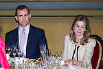 16.07.2012. Prince Felipe of Spain and Princess Letizia of Spain attends the Giving of the 8 th Edition of ´Luis Carandell´ Parliamentary Journalism in the Senate Building. In the image Prince Felipe  and Princess Letizia (Alterphotos/Marta Gonzalez)