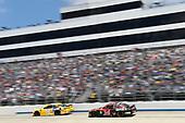 #18: Kyle Busch, Joe Gibbs Racing, Toyota Camry Pedigree, #34: Michael McDowell, Front Row Motorsports, Ford Mustang Dockside Logistics