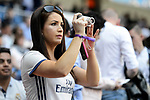 Real Madrid's supporters during La Liga match between Real Madrid and Atletico de Madrid at Santiago Bernabeu Stadium in Madrid, April 08, 2017. Spain.<br /> (ALTERPHOTOS/BorjaB.Hojas)