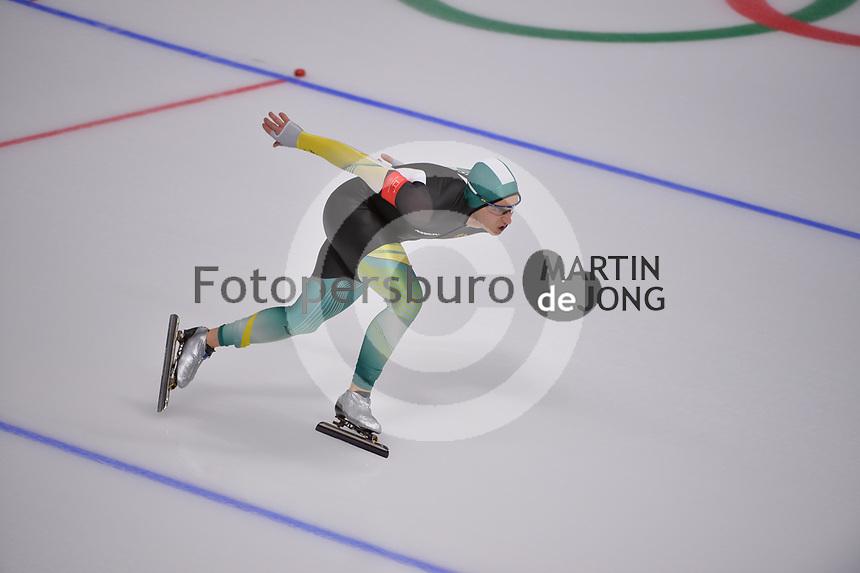 OLYMPIC GAMES: PYEONGCHANG: 23-02-2018, Gangneung Oval, Long Track, 1000m Men, Daniel Greig (AUS), ©photo Martin de Jong