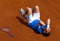 28-05-11, Tennis, France, Paris, Roland Garros , Andy Murray gaat door zijn enkel