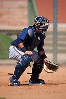 Atlanta Braves Bryan De La Rosa (24) during practice before an instructional league game against the Houston Astros on October 1, 2015 at the Osceola County Complex in Kissimmee, Florida.  (Mike Janes/Four Seam Images)