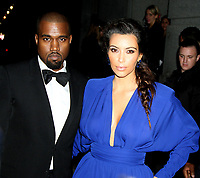 NEW YORK, NY - OCTOBER 22: Kanye West and Kim Kardashian at Angel Ball 2012 at Cipriani Wall Street in New York City. October 22, 2012.<br /> CAP/MPI/RW<br /> ©RW/MPI/Capital Pictures
