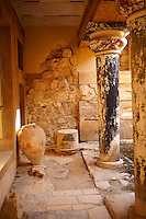 Arthur Evans reconstruction of  Knossos Minoan Palace archaeological site, Crete