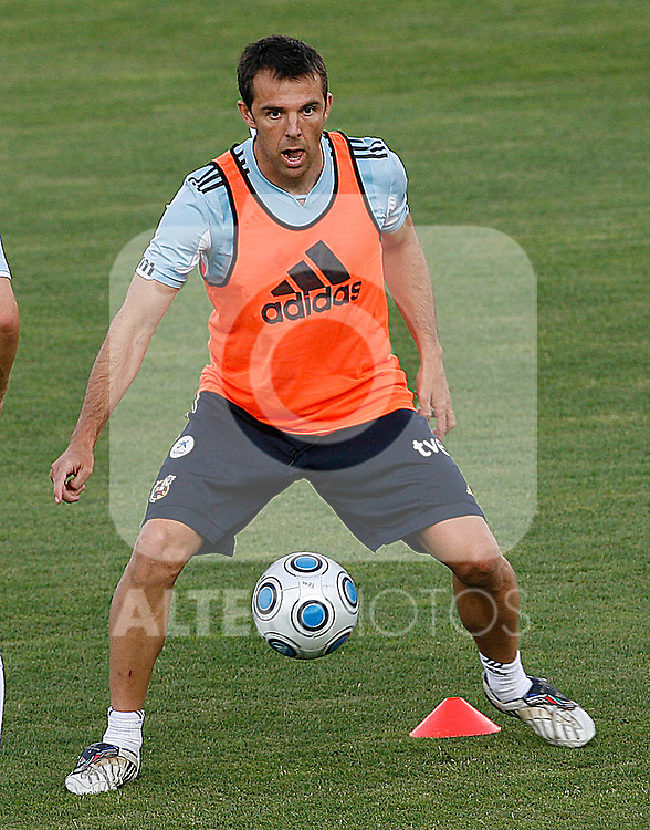 Spain's Carlos Marchena during training sesion. August 10 2009. (ALTERPHOTOS/Acero).