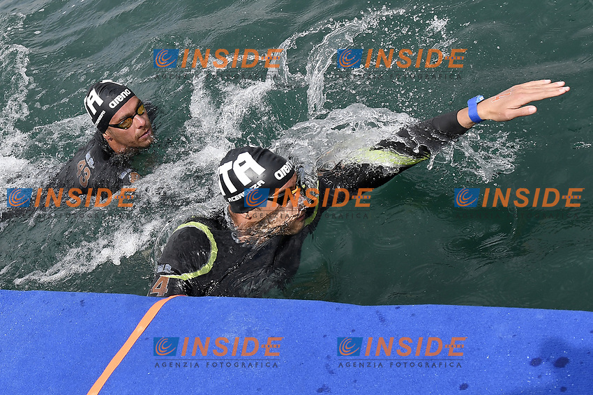 PALTRINIERI Gregorio, ACERENZA Domenico ITA<br /> Team Event 5 km<br /> Open Water<br /> Budapest  - Hungary  15/5/2021<br /> Lupa Lake<br /> XXXV LEN European Aquatic Championships<br /> Photo Andrea Staccioli / Deepbluemedia / Insidefoto